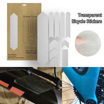 Bike Stickers Frame Protection Film MTB Bicycle Carbon Chains Protective UK • 9.89£