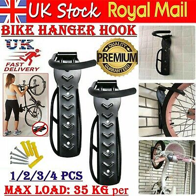 Bike Rack Hook Storage Steel Mounted Wall Hanger Hanging Stand Bicycle Holder UK • 8.99£