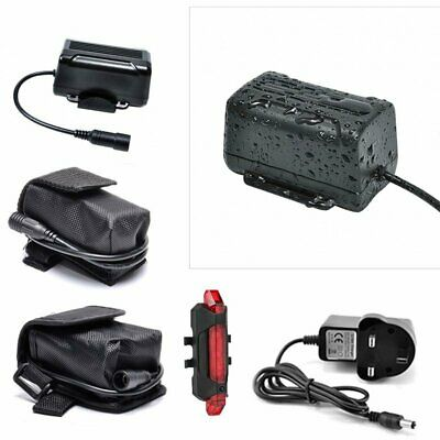 8.4V Rechargeable Battery Pack 1.8.6.5.0. Pouch For CREE T6 LED Bike Light Head • 17.99£