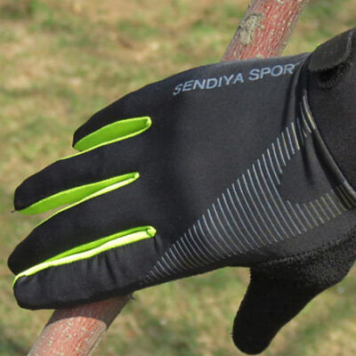 1 Pair Mountain Bike Bicycle Cycling Full Finger Gloves Riding Touchscreen Glove • 4.53£