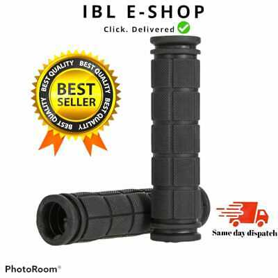 Bike Handlebar Grips Non Slip Rubber Bicycle Handle Grip Soft Tricycle Bmx Black • 2.99£