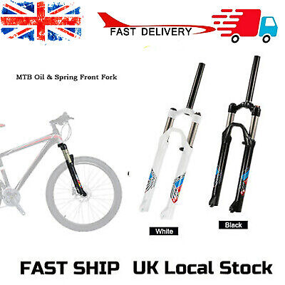 26inch MTB Mountain Bike Bicycle Oil/Spring Front Fork Cycling Bicycle Fork J2T8 • 31.96£
