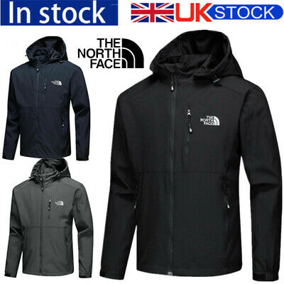 Mens Waterproofs Coats Camping Hiking Jacket WindProof Mountain Hooded Raincoats • 26.99£