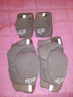 Fox Launch Pro D30 Elbow Pads Size Small And Knee Guards Size Small/medium • 10.50£