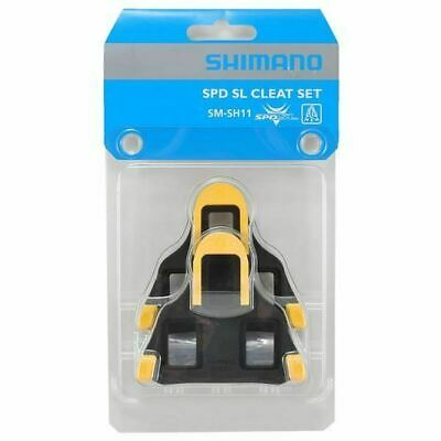Genuine Shimano SM-SH11 Float SPD-SL Road Bike Pedal Cleats +/-3° Yellow • 12.95£