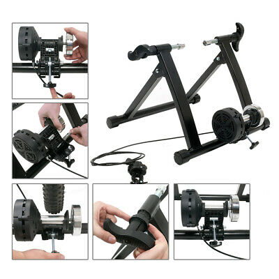 Indoor Exercise Bike Trainer Stand Portable Magnetic Resistance Training • 63.91£