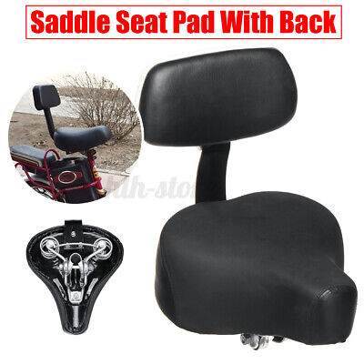 Wide Electric Vehicle Tricycle Bike Bicycle Comfort Saddle Seat Pad With Back UK • 16.99£