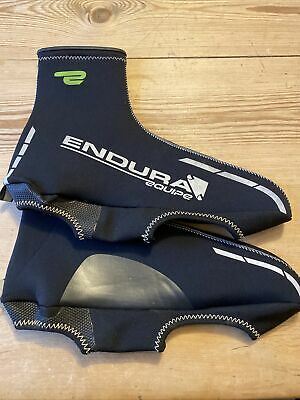 Endura Equipe Super Stretch Neprene Road Cycling Overshoes Size Large • 0.99£
