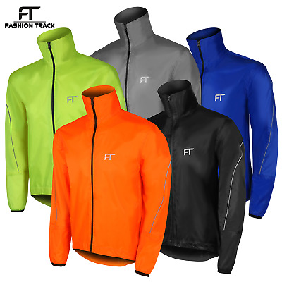 Mens Cycling Jacket High Visibility Waterproof Running Top Rain Coat S To XXL • 12.49£