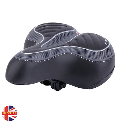 Extra Wide Comfy Cushioned Bike Seat Soft Padded Bicycle Gel Universal Saddle • 10.99£