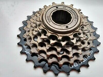 6 Speed Shimano Cycle / Bike Block Freewheel Screw On 14 / 28 Ratio MF-TZ500-6 • 17.99£