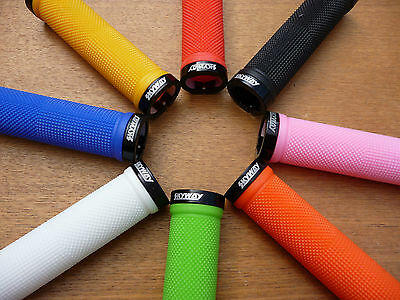 GRIPS Skyway >> LOCKING << BMX MTB ATB Mountain Bike Tuff Bicycle Cycle LOCK ON • 14.99£