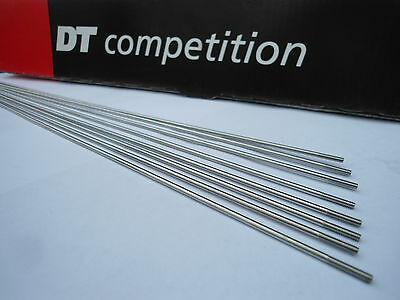 Dt Swiss Competition 2.0mm DB J Bend Spokes S/S Silver 24p Each • 11.85£