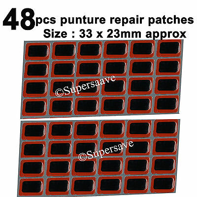 48pcs Rubber Puncture Patches Bicycle Bike Tire Tyre Tube Repair Cycle Patch Kit • 2.49£