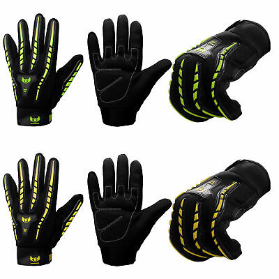 BOOM Cycling Gloves High Visibility Full Finger Bicycle MTB BMX Bike Riding  • 7.99£