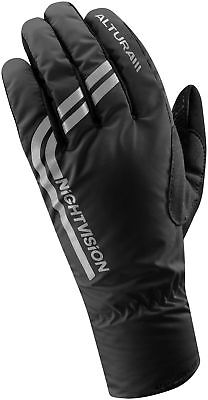 Altura Nightvision Waterproof Cycling Gloves Black Reflect Windproof Bike Glove • 12.99£