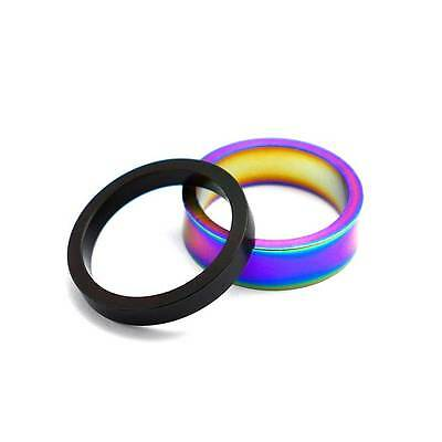 TLC BIKES 1 1/8  Alloy BMX Headset Spacers 5mm And 10mm - Black, Rainbow • 6.99£