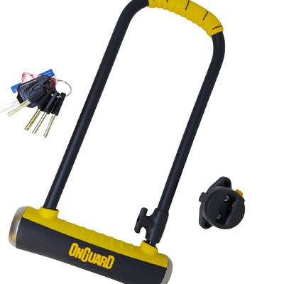 OnGuard 8002 Pitbull LS U-Lock D-lock Shackle Sold Secure GOLD Bike Security  • 25.99£