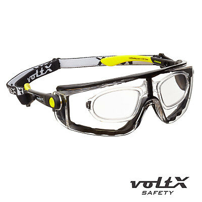 VoltX 'QUAD' 4 In 1, FULL LENS Reading Safety Glasses - Clear UV Class 1 Lens • 14.99£