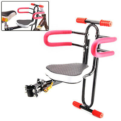 Portable Bike Bicycle Child Seat Saddle Children Kids Baby Carrier Front UK • 9.59£