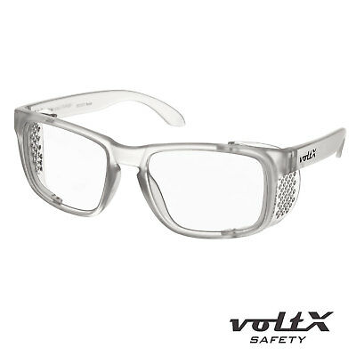 VoltX 'CRYSTAL' Full Lens Magnified Reading Safety Glasses CE Certified • 14.99£
