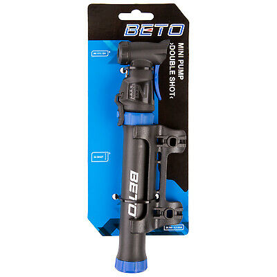 Beto Double Shot Mini Pump Bike Bicycle Cycle Cycling Presta Schrader Football • 9.99£