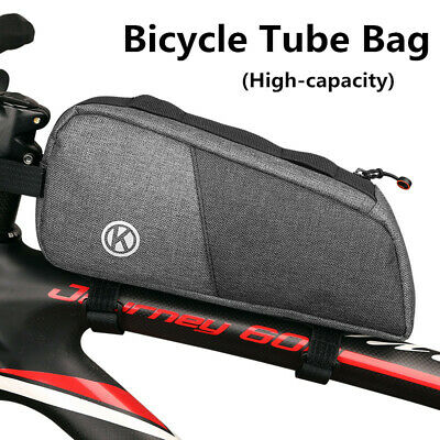 High Capacity Top/Seat Tube Bag For Bike Bicycle Cycling Storage Pouch Oxford • 6.85£