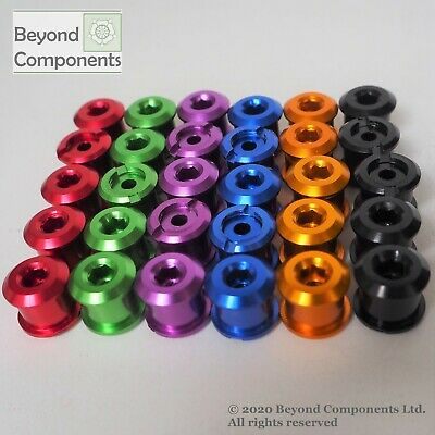 Colourful Anodised Bike Bicycle Chainset Chainring Chain Ring Bolts 5 Pack • 5.99£