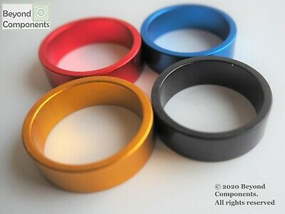 CNC Machined Superlight Alloy 1 1/8  5mm & 10mm Bike Bicycle Headset Spacers • 1.70£