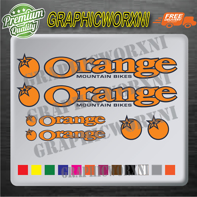 ORANGE Bikes Decal Set • 3.55£