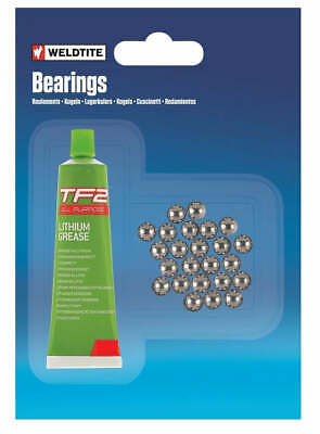 Weldtite 1/8  Loose Ball Bearing & 5g TF2 Grease Bike / Bicycle Pedals Cassette • 2.95£