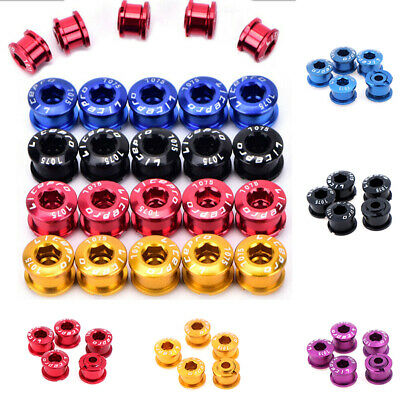 5PCS Bike Chainring Bolts Single/Double/Triple Speed Chain Ring Scr EH • 5.85£