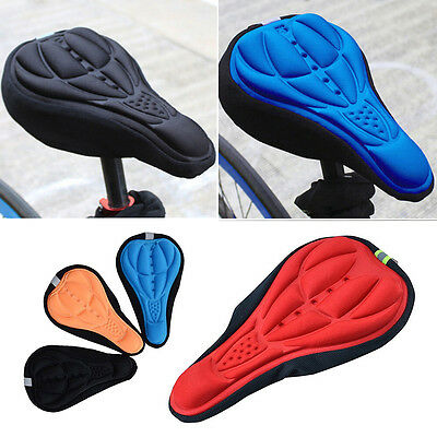1x Cycling Bicycle Mountain Bike 3D Gel Pad Seat Saddle Cover Great Cushion EH • 4.94£