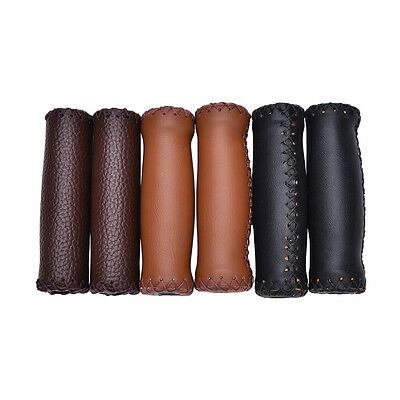 Vintage Artificial Leather Cycling   Road Mountain Bike  Handlebar Grip End EH • 4.78£