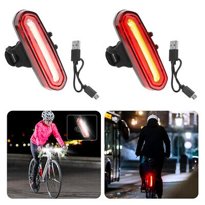 4 Modes LED Tail Lamp Bike Bicycle Cycling USB Rechargeable Front Rear Light • 6.29£