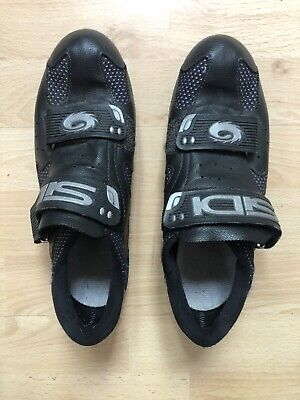 Sidi Black Cycling Shoes,Hook Loop Straps, Made In Italy, Ladies Size 5 / EUR 40 • 31£
