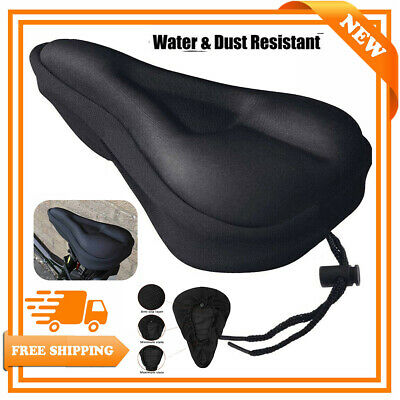 Mountain Bike Comfort Soft Gel Pad Comfy Cushion Saddle Seat Cover Bicycle Cycle • 3.59£