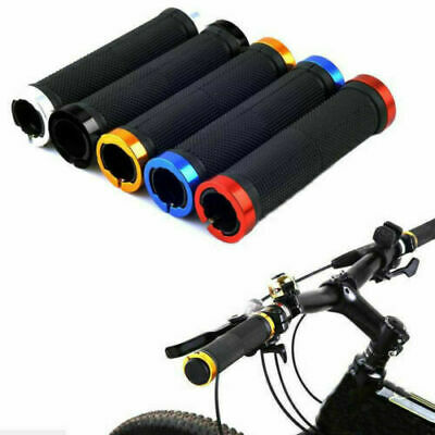 Bmx Mtb Cycle Bicycle Mountain Bike Handle Bar Grips 2pcs Double Lock On Locking • 4.99£