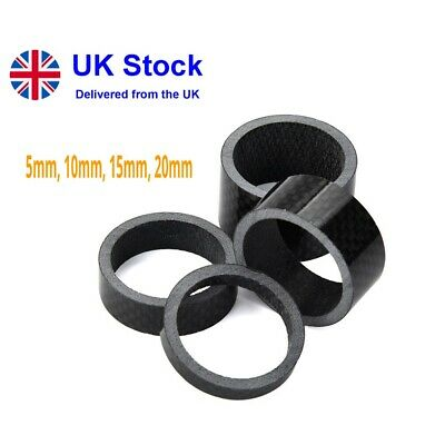 Carbon Fibre, Bicycle,bike, Headset Spacers, 1/8 Inch 5/10/15/20mm • 6.95£