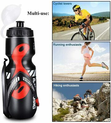 Water Bottle Holder Cage Rack 650ml Mountain Road Cycling Bike Bicycle Training • 8.79£