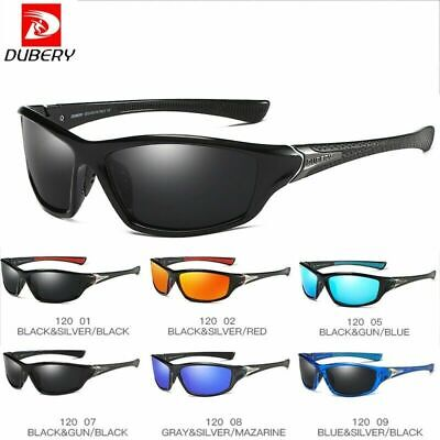 DUBERY Polarized Sunglasses Square Outdoor Cycling Sport Driving Fishing UV400 • 9.89£