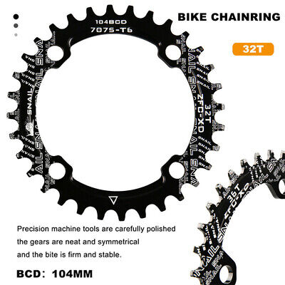 NEW 104BCD 32T Single Tooth Narrow MTB Bike Bicycle Cycling Chainring Round • 5.89£