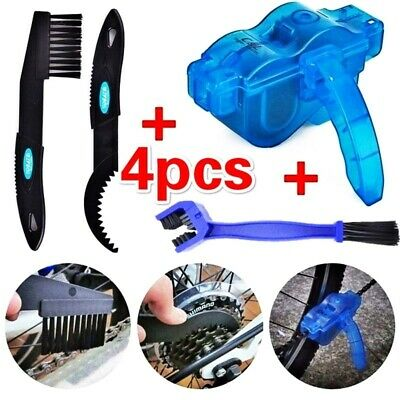 Bicycle Chain Cleaner Cycling Cleaning Brushes Wash Tool Kit For Mountain Bike • 8.55£