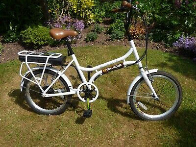 EGLIDE  GIZMO  WHITE  ELECTRIC  BICYCLE  IN  EXCELLENT  CONDITION • 310£