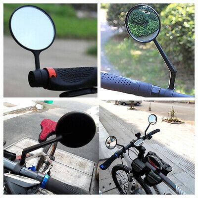 2×Bike Bicycle Cycling Large Safety Rearview Back View Handlebar Glass Mirror • 3.99£