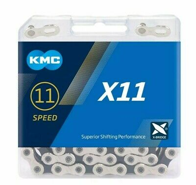 KMC X11 Sil/Blk 11 Speed Cycle Chain For Shimano/Campagnolo/Sram • 19.95£