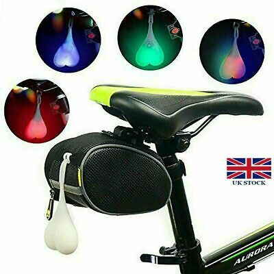 Bike Ball Lights Bicycle LED Back Rear Tail Light Cycling Heart Ball Egg Lamp UK • 4.85£
