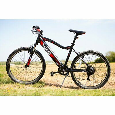 ELife Patriot Black Red 6sp 36V 250W EBike 26  Wheels & Puncture Proof Tyres NEW • 999.99£
