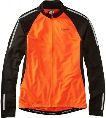 Madison Stellar Thermal Long Sleeve Mens Cycling Jersey - Orange • 22.99£