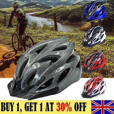 Mountain Bike Road Helmet Adjustable Mens Womens Adult Sport Cycling Bicycle L6 • 10.49£